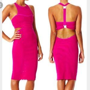 Bec & Bridge Pink Dress Open back US6